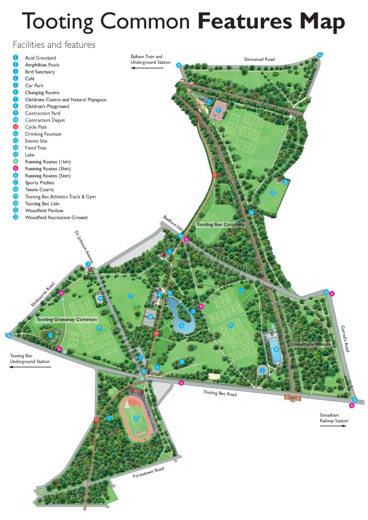 Tooting Common Features Map